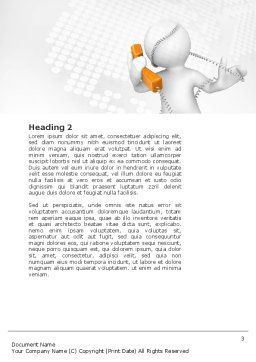 Orange Telephone Word Template, Second Inner Page, 02951, Telecommunication — PoweredTemplate.com