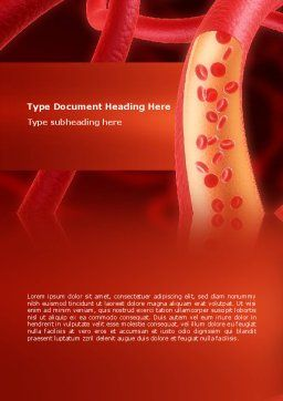 Red Blood Cells Word Template, Cover Page, 02953, Medical — PoweredTemplate.com