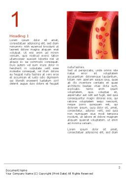 Red Blood Cells Word Template, First Inner Page, 02953, Medical — PoweredTemplate.com