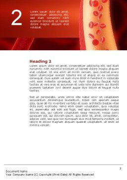 Red Blood Cells Word Template, Second Inner Page, 02953, Medical — PoweredTemplate.com
