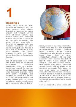 World in Your Hand Word Template, First Inner Page, 02954, Global — PoweredTemplate.com