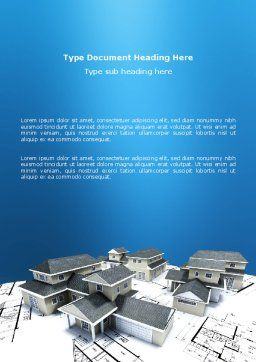 House Building Word Template, Cover Page, 02955, Construction — PoweredTemplate.com