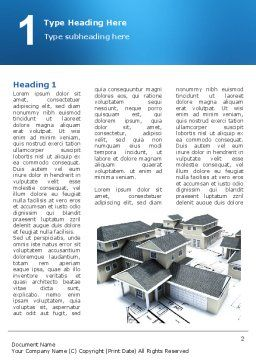 House Building Word Template, First Inner Page, 02955, Construction — PoweredTemplate.com