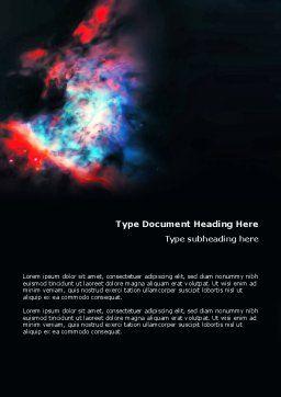 Orion Nebula Word Template, Cover Page, 02961, Education & Training — PoweredTemplate.com