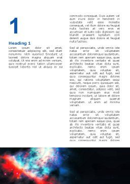 Orion Nebula Word Template, First Inner Page, 02961, Education & Training — PoweredTemplate.com