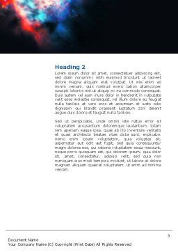 Orion Nebula Word Template, Second Inner Page, 02961, Education & Training — PoweredTemplate.com