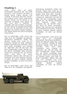 Military Truck Word Template, First Inner Page, 02962, Military — PoweredTemplate.com