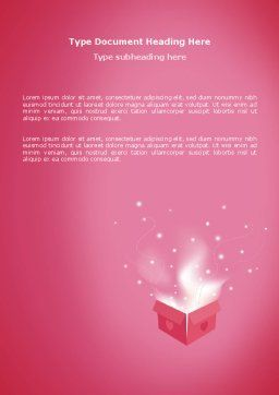 Love Box Word Template, Cover Page, 02964, Holiday/Special Occasion — PoweredTemplate.com