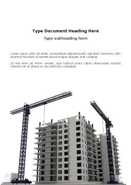 Building Plot Word Template, Cover Page, 02967, Construction — PoweredTemplate.com