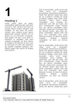 Building Plot Word Template, First Inner Page, 02967, Construction — PoweredTemplate.com