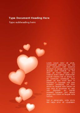 Love Gift Word Template, Cover Page, 02968, Holiday/Special Occasion — PoweredTemplate.com
