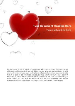 Hearts Word Template, Cover Page, 02969, Holiday/Special Occasion — PoweredTemplate.com