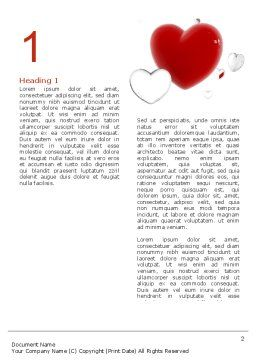 Hearts Word Template, First Inner Page, 02969, Holiday/Special Occasion — PoweredTemplate.com