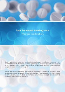 Medical Treatment Word Template, Cover Page, 02972, Medical — PoweredTemplate.com