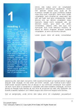 Medical Treatment Word Template, First Inner Page, 02972, Medical — PoweredTemplate.com
