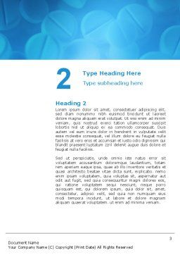 Medical Treatment Word Template, Second Inner Page, 02972, Medical — PoweredTemplate.com