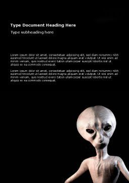 Alien Word Template, Cover Page, 02976, Technology, Science & Computers — PoweredTemplate.com