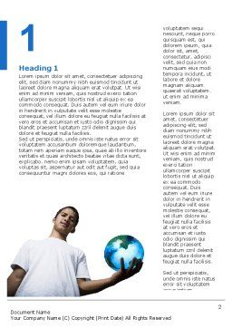 Ability Word Template, First Inner Page, 02979, Global — PoweredTemplate.com