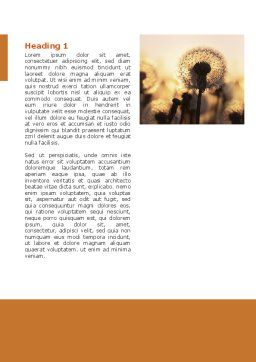 Free Dandelion Word Template, First Inner Page, 02981, Nature & Environment — PoweredTemplate.com