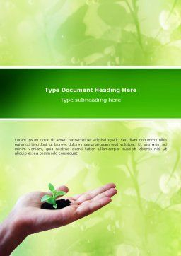 Sprout Word Template Cover Page