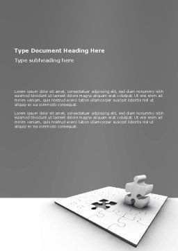 Part Word Template, Cover Page, 02984, Business Concepts — PoweredTemplate.com