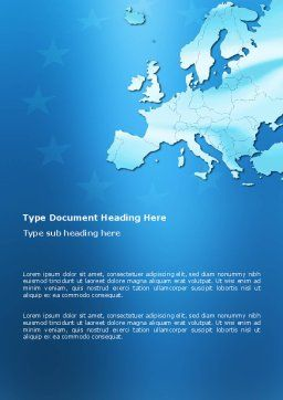 Europe Word Template, Cover Page, 02988, Global — PoweredTemplate.com