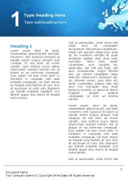 Europe Word Template, First Inner Page, 02988, Global — PoweredTemplate.com