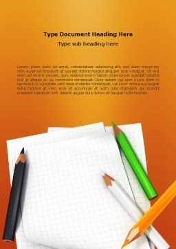 Notebook Word Template, Cover Page, 02990, Education & Training — PoweredTemplate.com