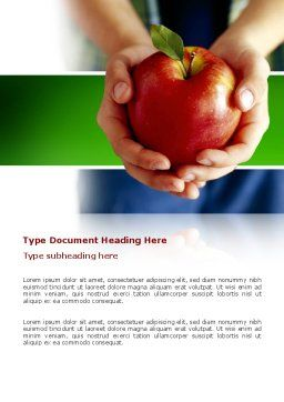 Apple In Hands Word Template Cover Page