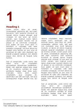 Apple In Hands Word Template First Inner Page