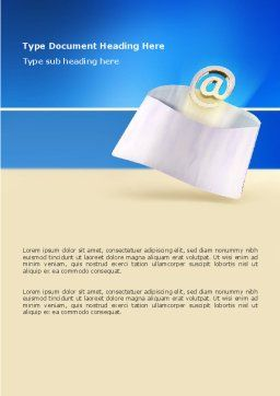 You've Got Email Word Template, Cover Page, 03007, Telecommunication — PoweredTemplate.com