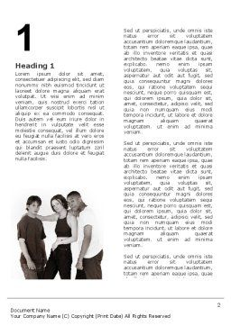 Teenagers Word Template, First Inner Page, 03009, People — PoweredTemplate.com
