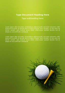 Golf Ball In The Nest Word Template, Cover Page, 03010, Sports — PoweredTemplate.com