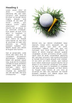 Golf Ball In The Nest Word Template, First Inner Page, 03010, Sports — PoweredTemplate.com