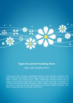 Spring Word Template, Cover Page, 03011, Abstract/Textures — PoweredTemplate.com