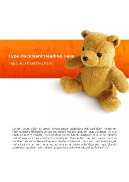 Toy Word Template, Cover Page, 03013, Holiday/Special Occasion — PoweredTemplate.com
