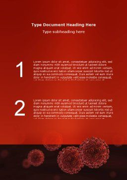 Red Corpuscles Word Template, Cover Page, 03014, Medical — PoweredTemplate.com