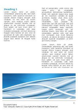Art Design Word Template, First Inner Page, 03016, Telecommunication — PoweredTemplate.com