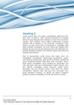 Art Design Word Template, Second Inner Page, 03016, Telecommunication — PoweredTemplate.com