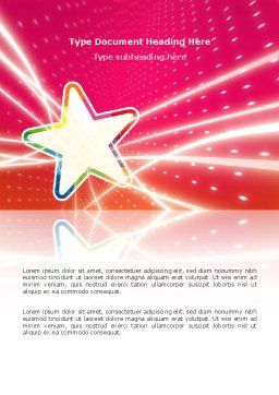 Disco Star Word Template, Cover Page, 03020, Careers/Industry — PoweredTemplate.com