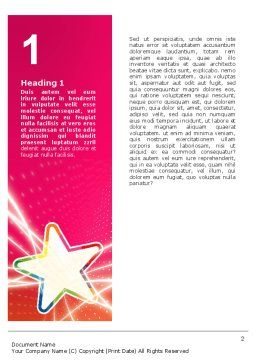 Disco Star Word Template, First Inner Page, 03020, Careers/Industry — PoweredTemplate.com