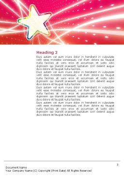 Disco Star Word Template, Second Inner Page, 03020, Careers/Industry — PoweredTemplate.com