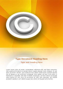 Copyright Sign Word Template, Cover Page, 03021, Legal — PoweredTemplate.com