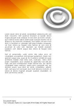 Copyright Sign Word Template, Second Inner Page, 03021, Legal — PoweredTemplate.com