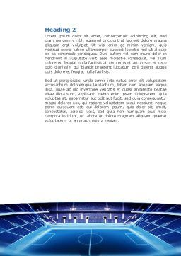 Stadium Word Template, Second Inner Page, 03022, Sports — PoweredTemplate.com
