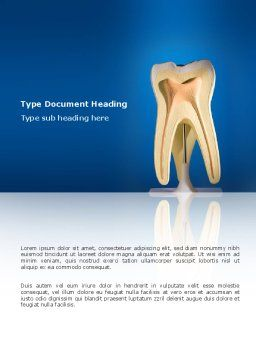 Tooth Word Template, Cover Page, 03023, Medical — PoweredTemplate.com
