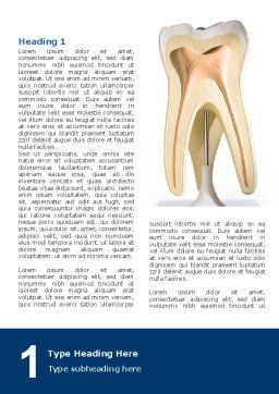 Tooth Word Template, First Inner Page, 03023, Medical — PoweredTemplate.com