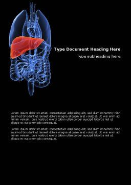 Liver Word Template, Cover Page, 03025, Medical — PoweredTemplate.com