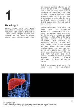 Liver Word Template, First Inner Page, 03025, Medical — PoweredTemplate.com