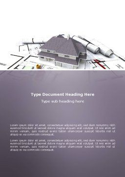 Townhouse Project Word Template, Cover Page, 03027, Construction — PoweredTemplate.com